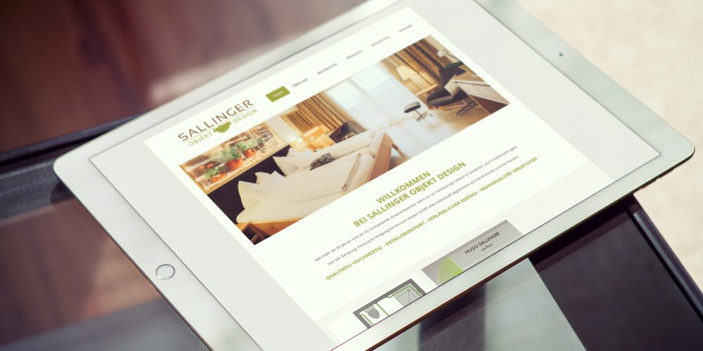 Sallinger Objekt Design – Website