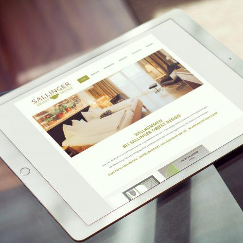 Sallinger Objekt Design – Website